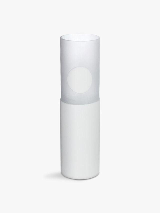 Carved Vase Tall White