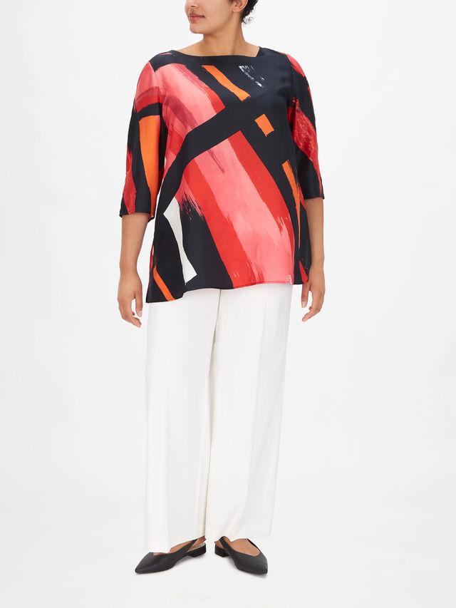 Fastigio Silk Tunic Blouse