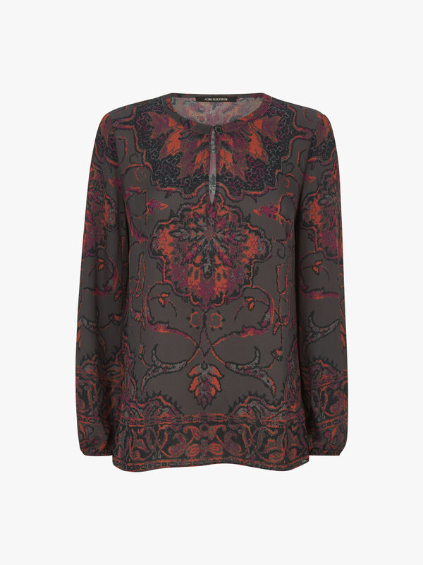 Jayden Print Silk Blouse