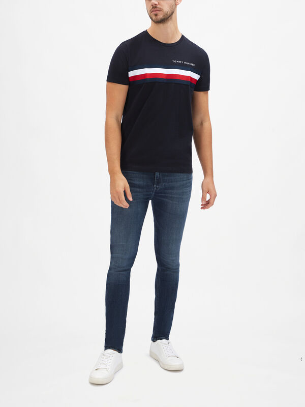 Chest Flag Stripe T-Shirt
