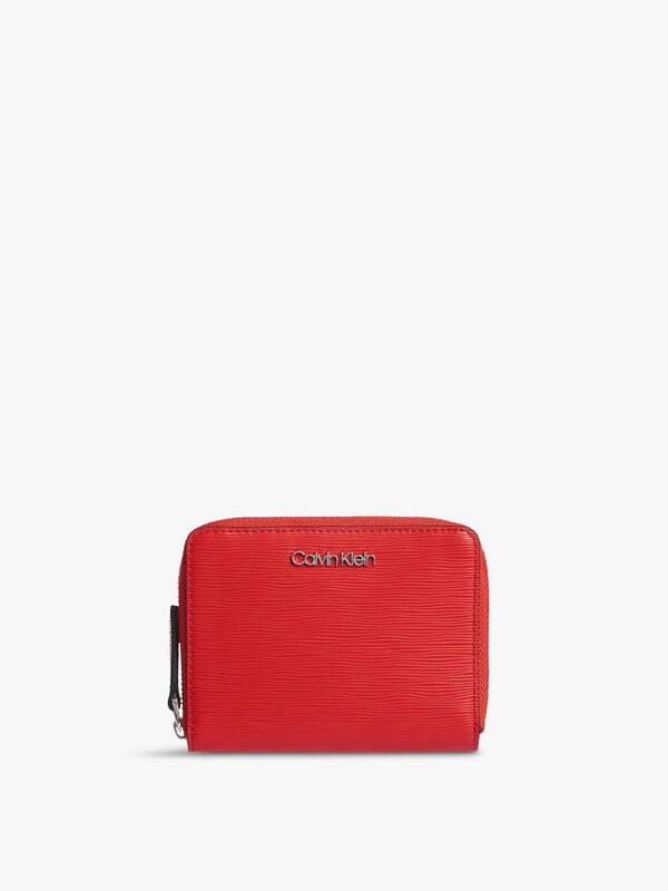 CK Must Zip Around Wallet With Flap Medium Wave