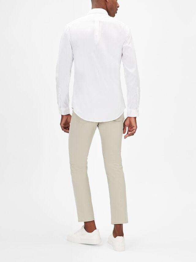 Slim Fit Long Sleeve Chino Shirt