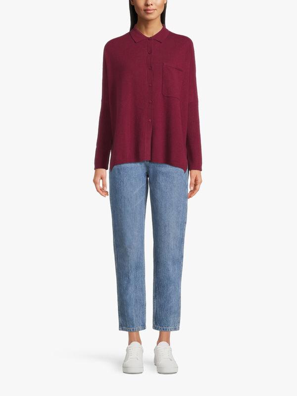 Andrea Cashmere Knit Shirt