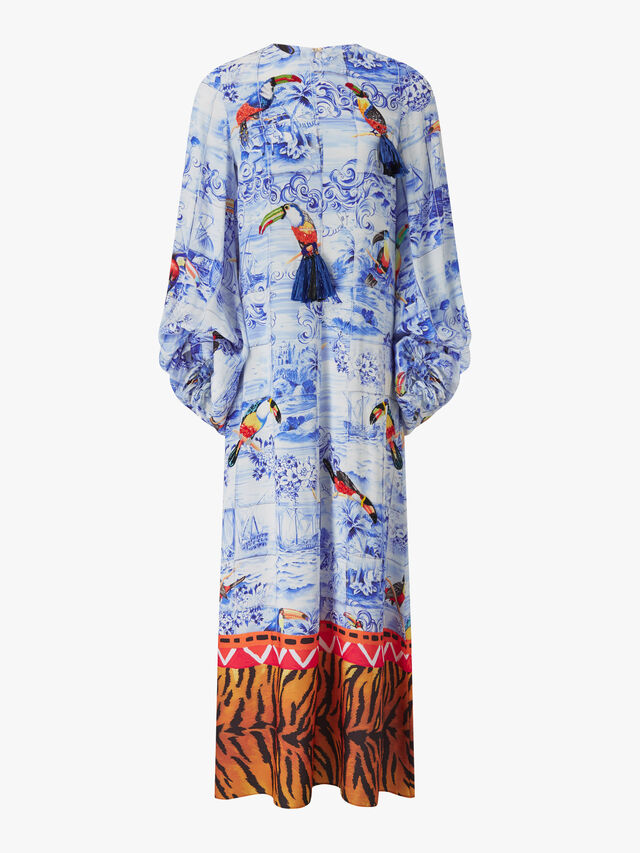 Toucan Print Long Sleeve Dress