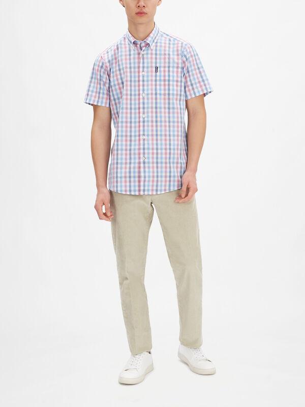 Tattersall Shortsleeve Tailored Shirt