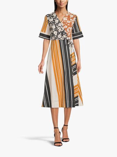 Stripe-Flower-A-Line-Cotton-Midi-Wrap-Dress-L1SU08