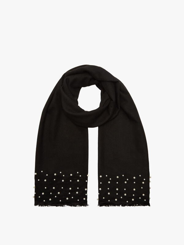 Graduated Pearls pashmina style scarf