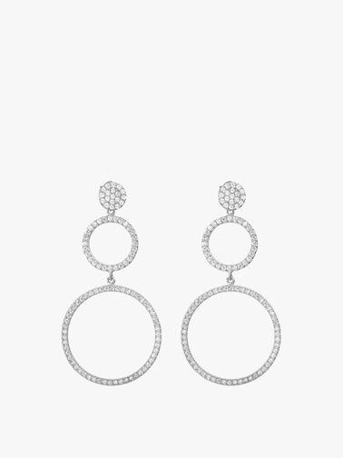 Double Open Circle Drop Earrings