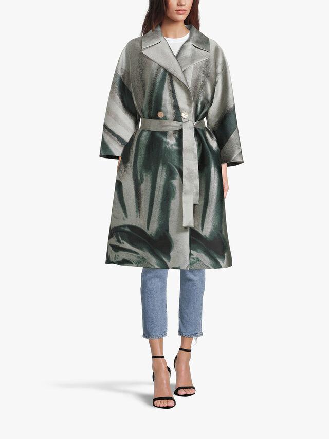 Timer Jacquard Overcoat