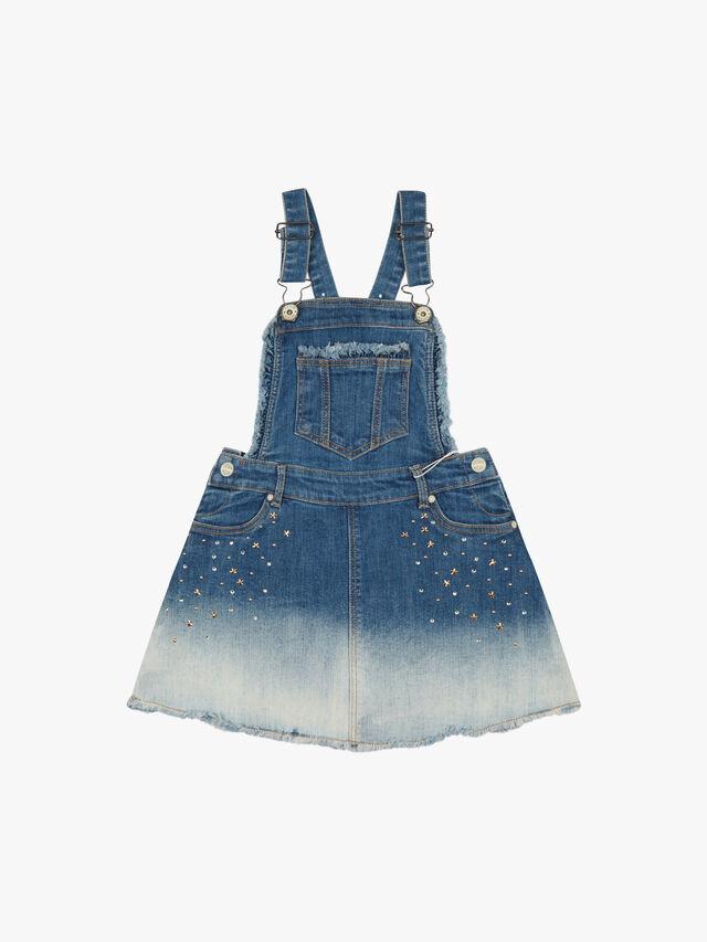 Dip Dye Dungaree Dress