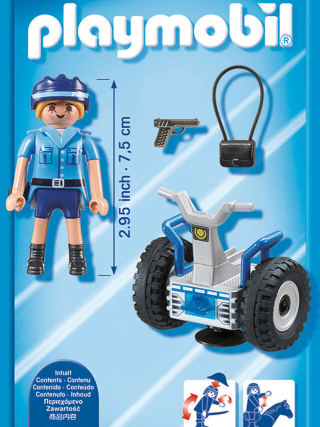 City Action Policewoman with Balance Racer