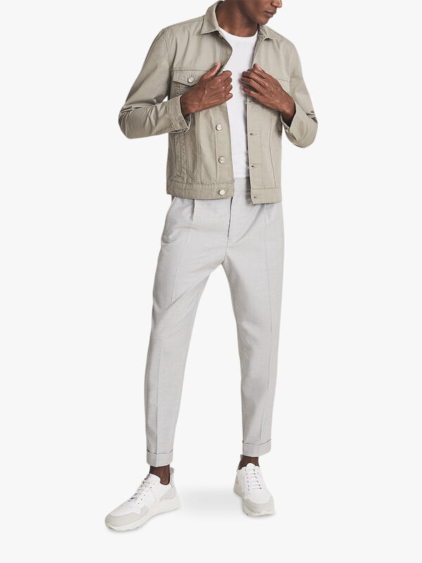 Surrey Cotton Linen Trucker Jacket