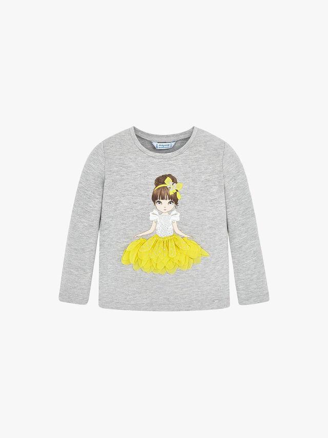 Long Sleeved Princess Applique T-Shirt
