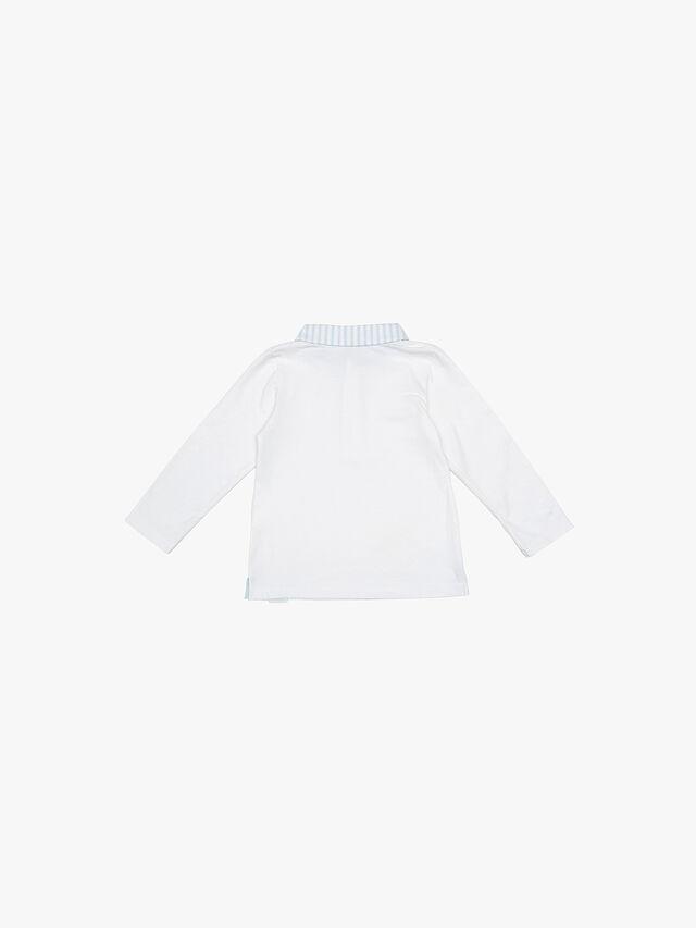 Long Sleeve Stripe Trim Polo