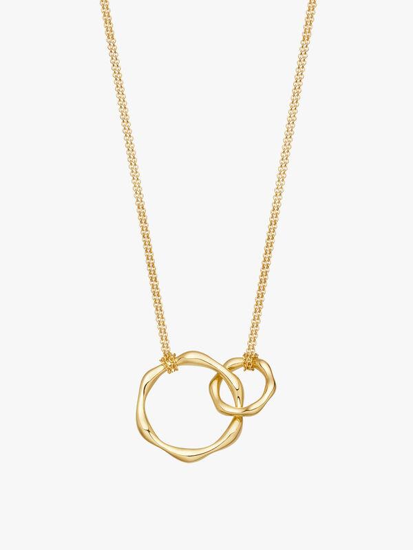 Double Molten Chain Necklace On Plain Chain