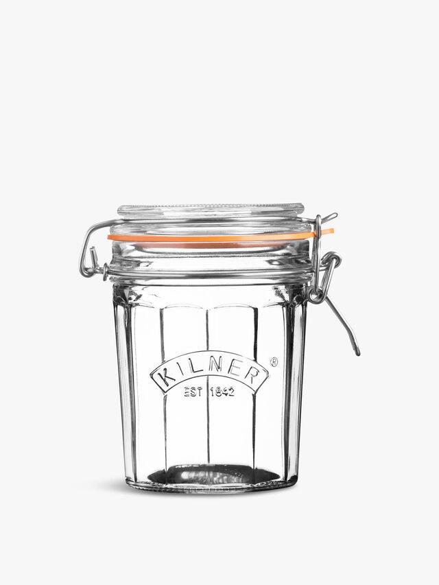 Facetted Clip Top Jar 0.45l