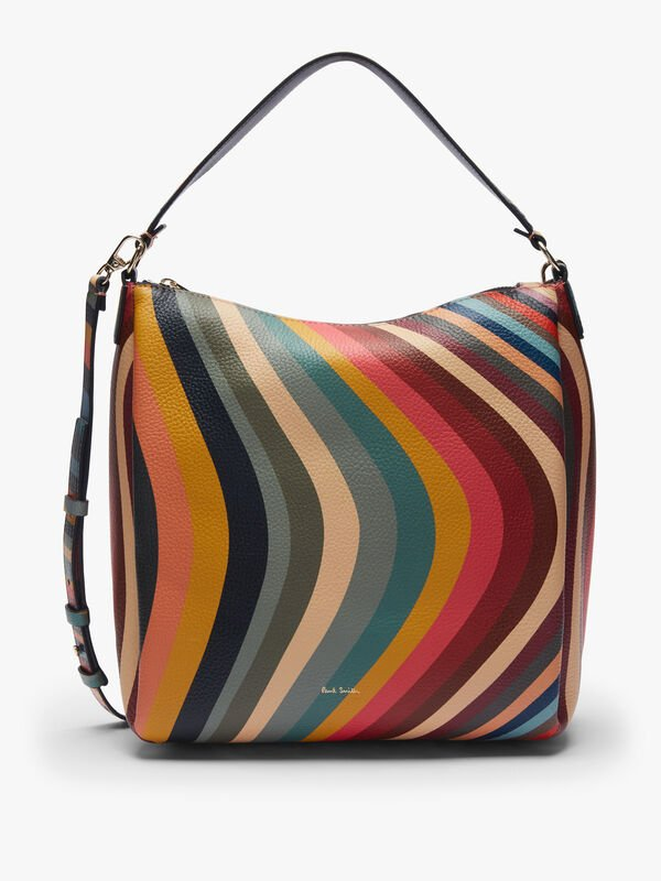 Zip Swirl Hobo Bag