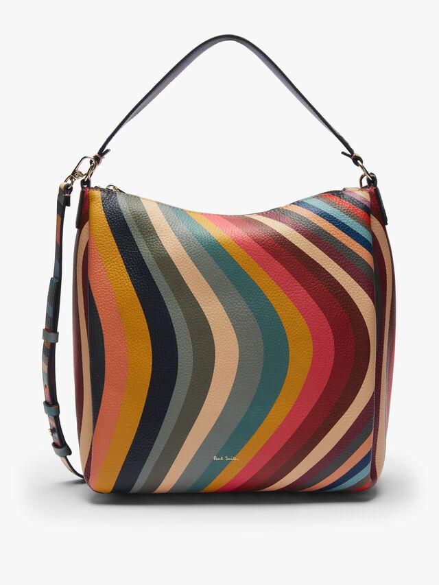 Zip Swirl Hobo Bag