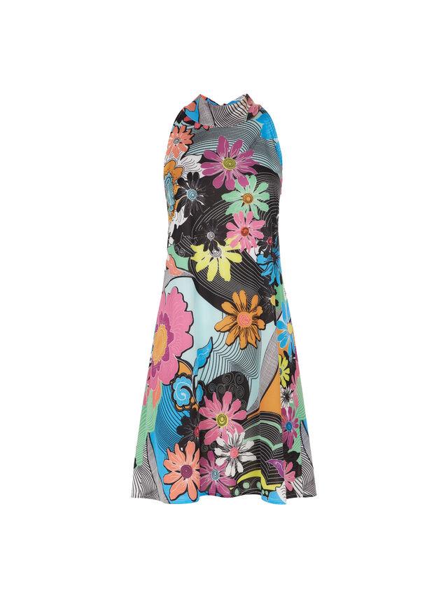 Halter Neck Print Dress