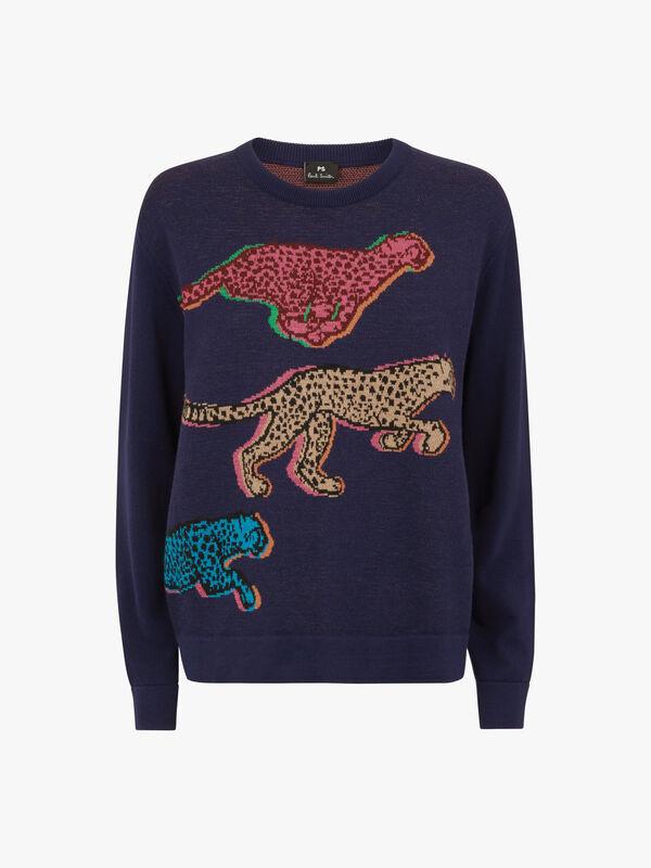 Cheetah Intarsia Knit