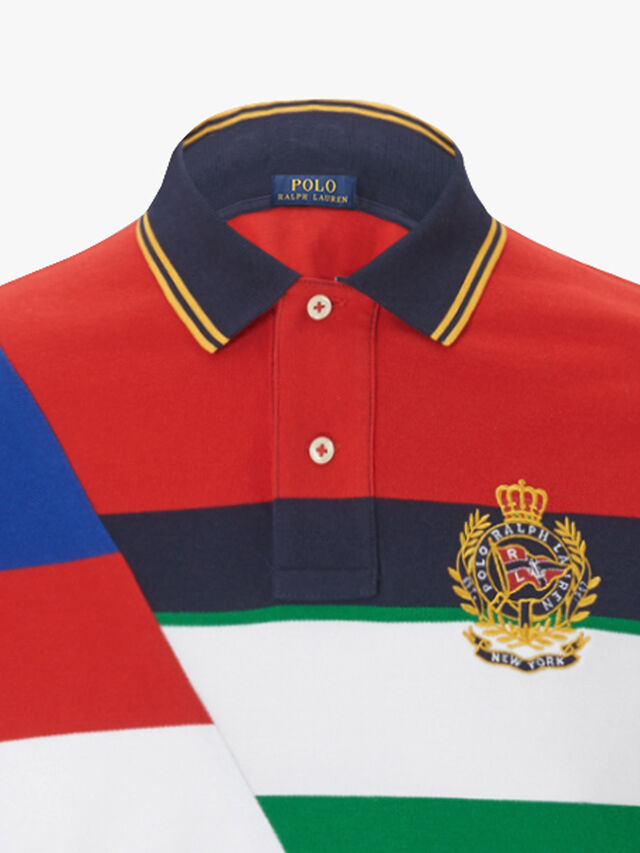 Abstract Stripe Polo Shirt