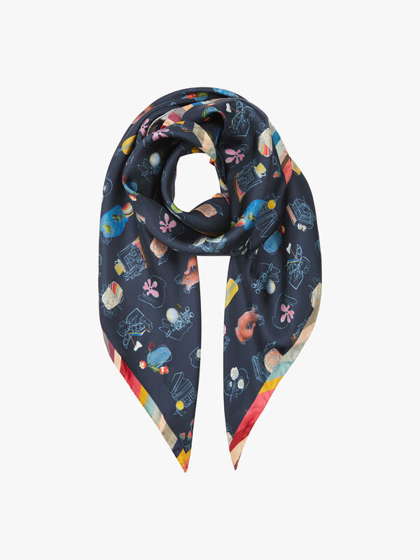 Fenwick Exclusive Silk Square Scarf