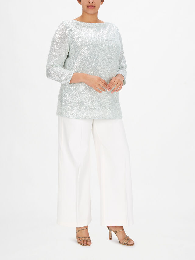 Bambola Sequin Embroidered Tunic Blouse