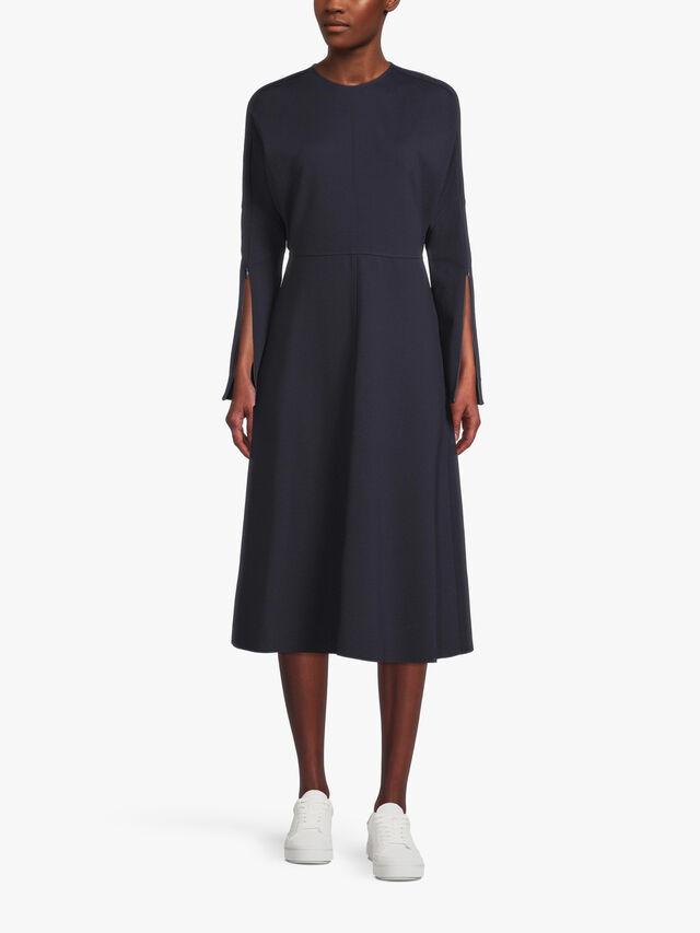 Ponte Zip Sleeve Dress