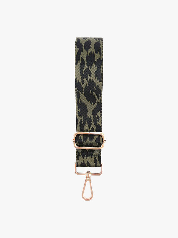Black and Green Cheetah Strap