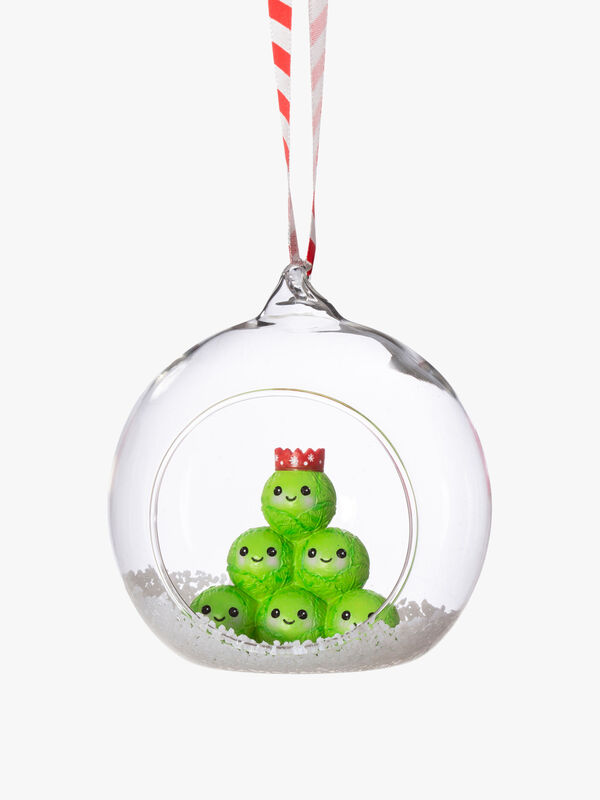 Brussel Sprout Inside Christmas Bauble
