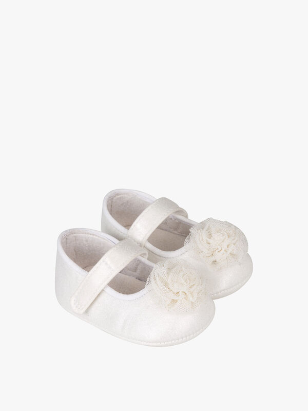 Tulle Rosette Trim Shoes