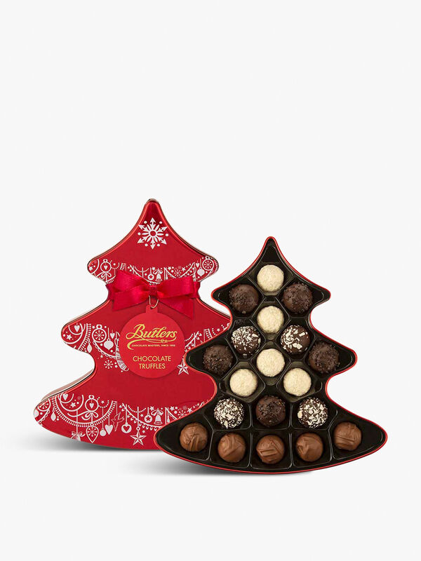 Christmas Tree Tin with Chocolate Truffles 235g