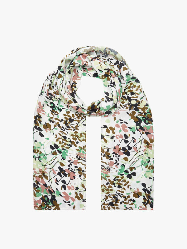 Along Abstract Floral Print Scarf