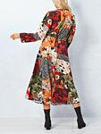 V-Neck Print Midi Dress