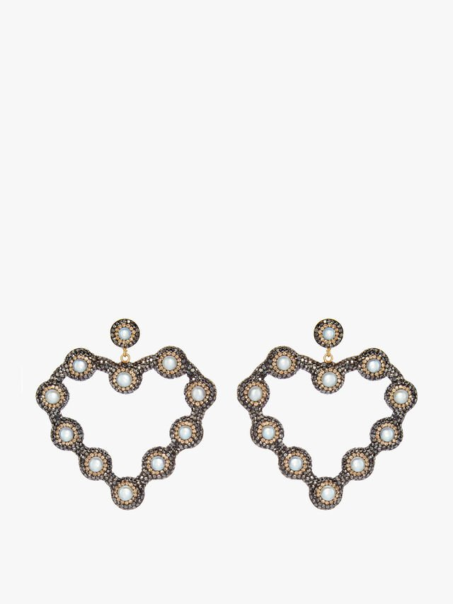 Pearl Heart Hoops