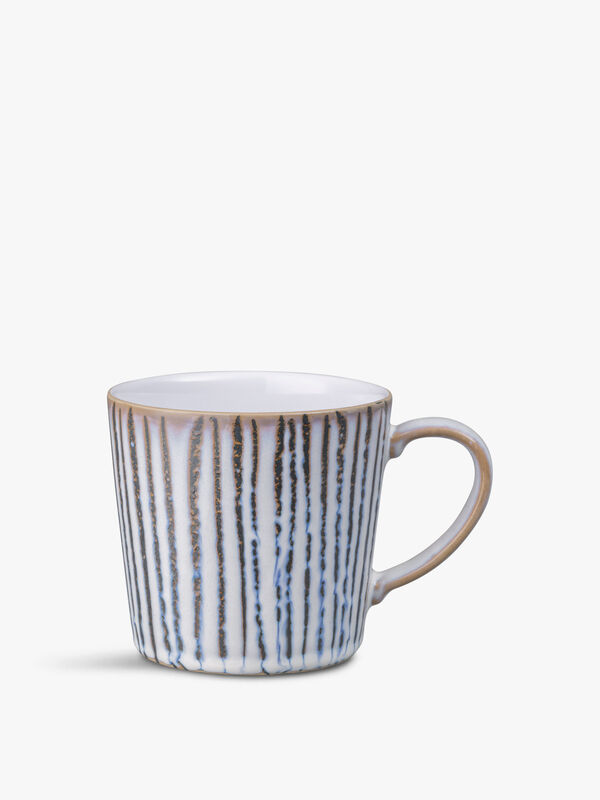 Light Grey Vertical Wax Large Mug