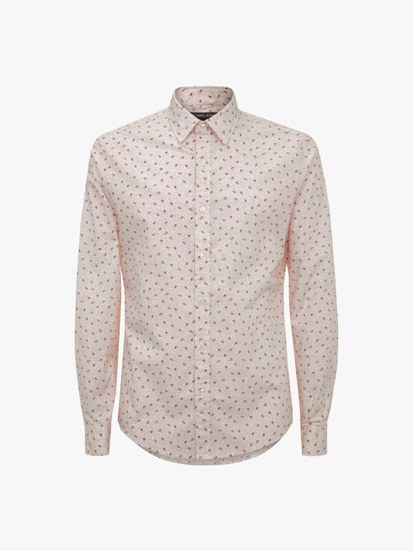 Slim-Fit Floral Dot Shirt