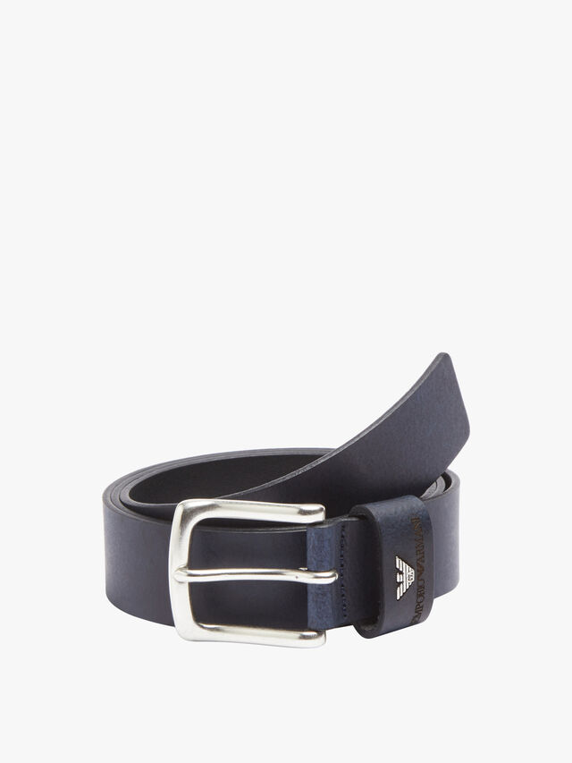 Metal Logo Buckle Belt