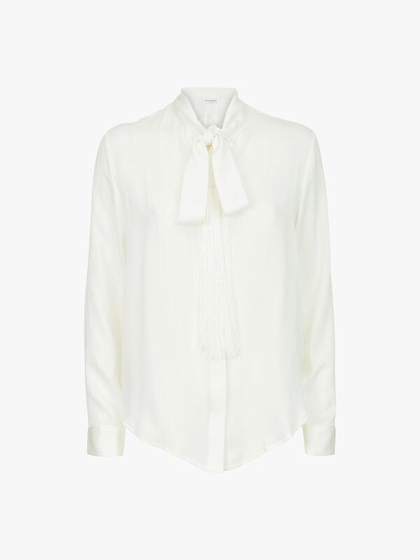 Signature Satinised Georgette Tie Shirt