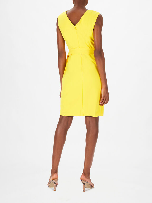 Cleonie Wrap Over Fitted Knee Length Dress