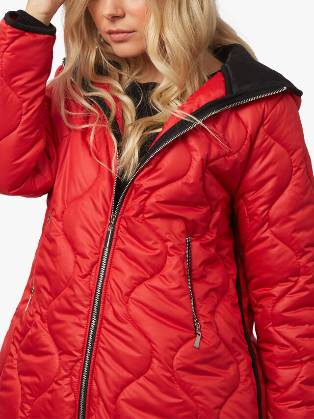 Quilted Pipe Edge Puffer Jacket