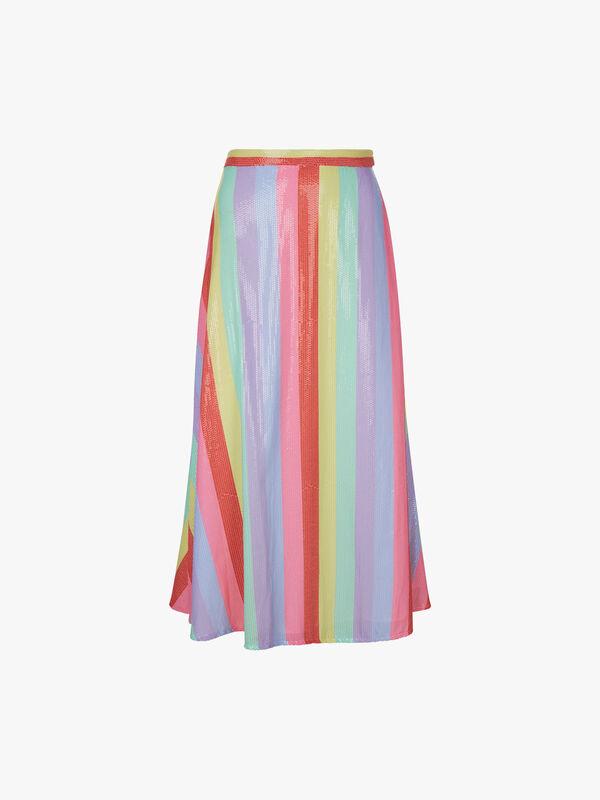 Penelope Rainbow Midi Skirt