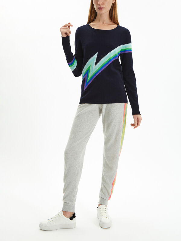 Crew Neck Lightening Bolt