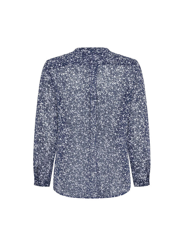 Areita Crinkle Collarless Shirt