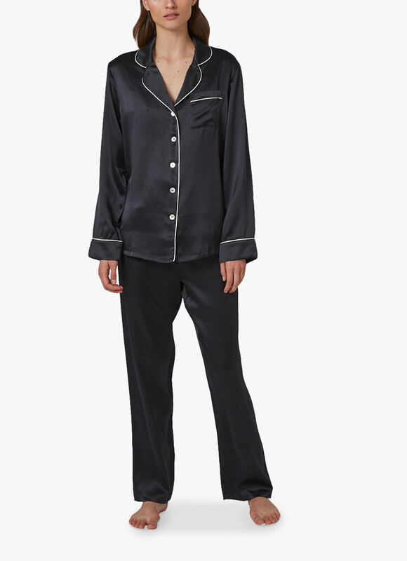 Silk Pyjama With Contrast Piping
