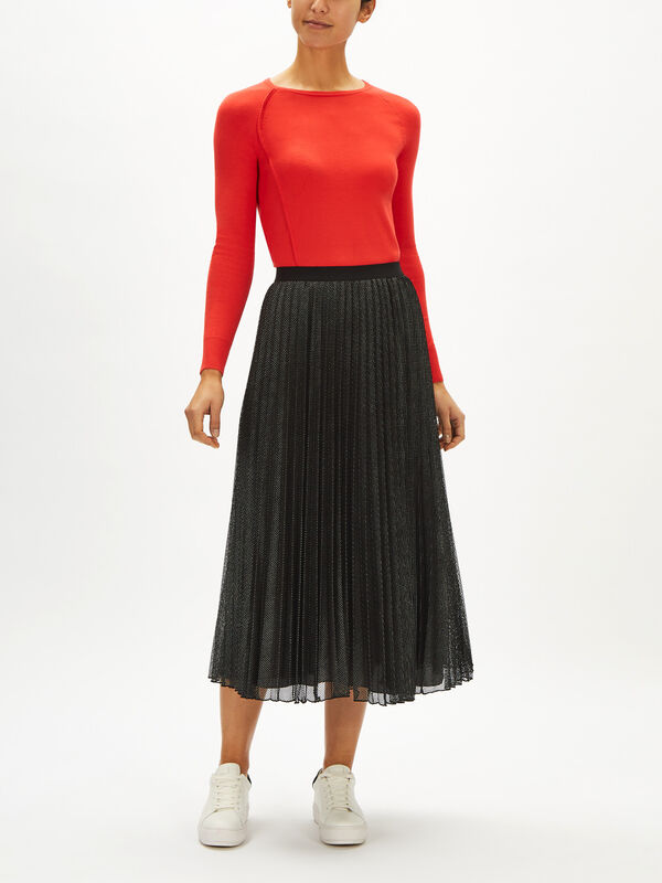 Principe Pleated Midi Skirt