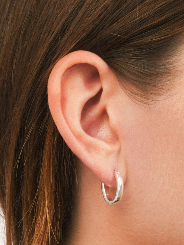 Small Silver Tone Hoop Earrings