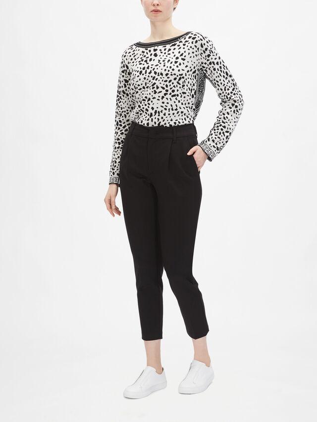 Smart High-Waist Jersey Trouser