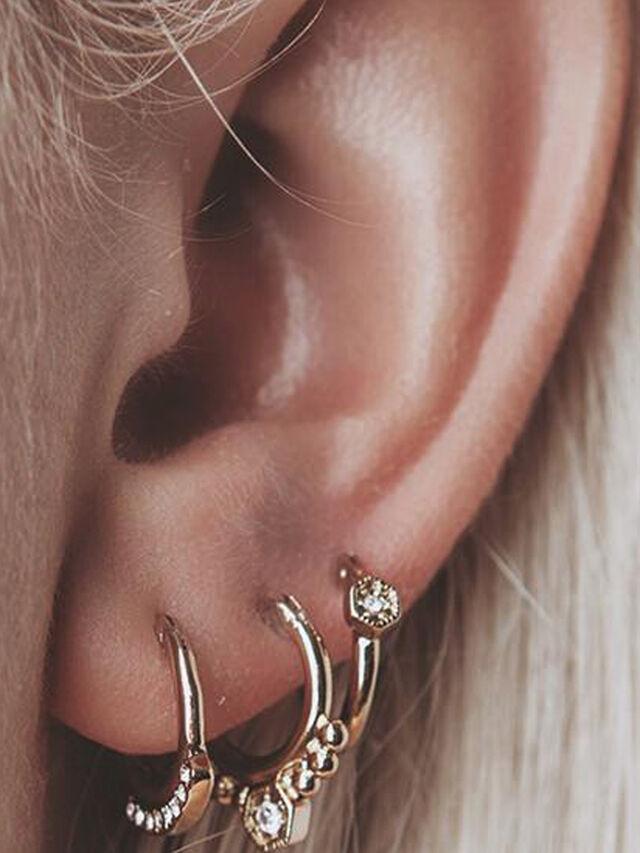 Full Bloom Hoop Earring Set