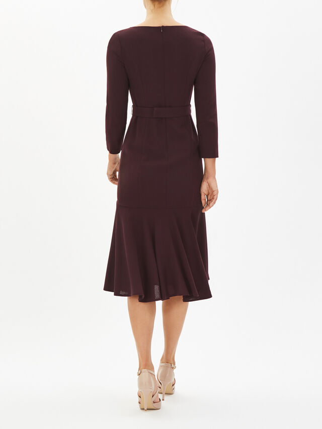 Iris Dress with Fluted Tier